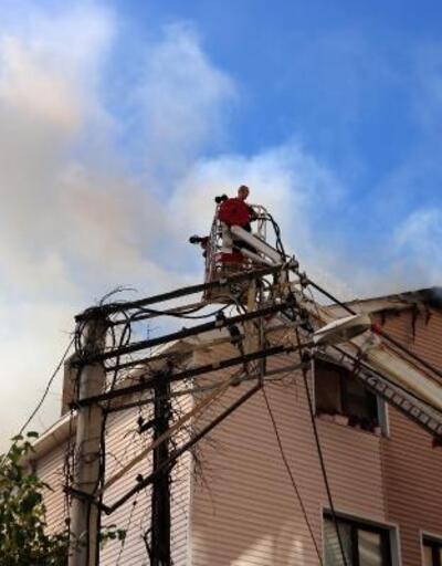 Zonguldak'ta çatı yangını korkuttu