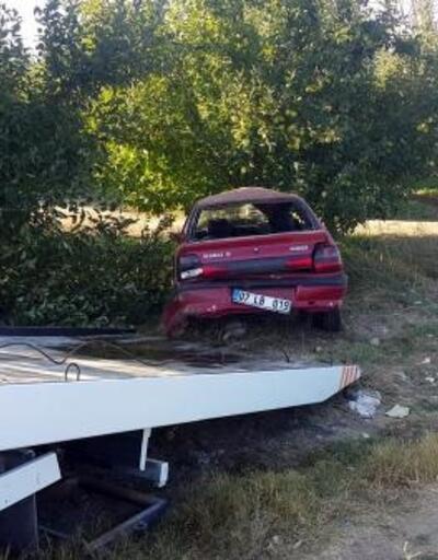 Otomobil elma bahçesine uçtu: 5 yaralı