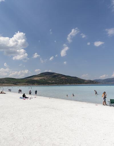 Turkuaz ile beyazın buluşma noktası Salda Gölü