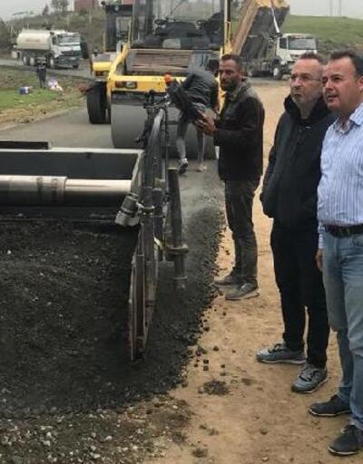 Kaymakam Karacan, beton yol çalışmalarını inceledi