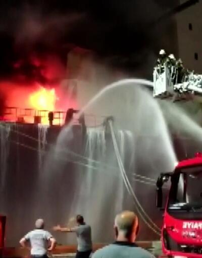 Hatay'da geminin makine dairesinde yangın