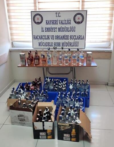 Kayseri'de 135 şişe kaçak alkol ele geçirildi