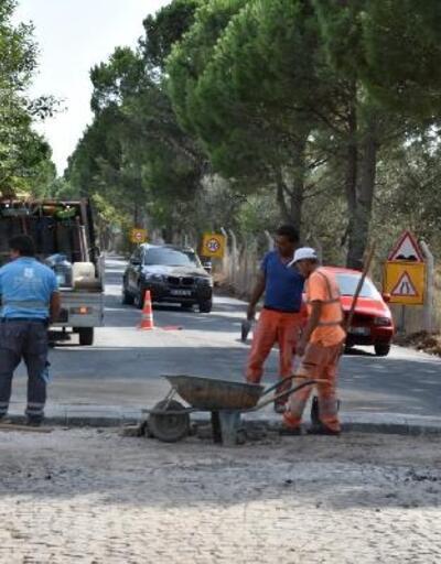 Edremit'in Güre Mahallesi yolu yenileniyor