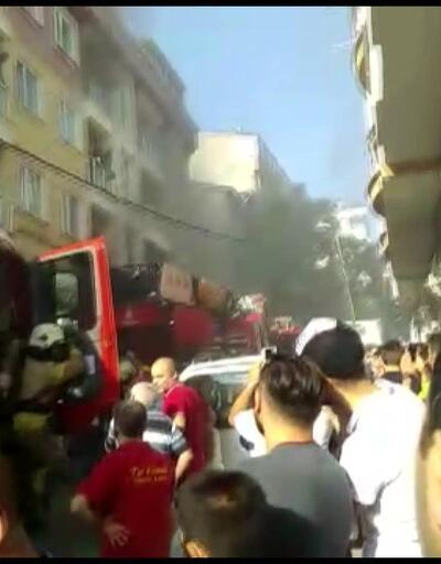 Esenyurt'ta 4 katlı binada yangın paniği
