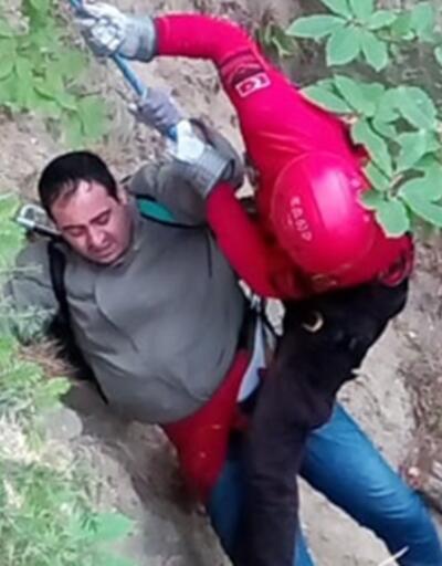 Tansiyonu yükselince Uludağ'da mahsur kalan kişi kurtarıldı