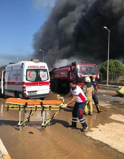 Son dakika... Tuzla'da fabrikada yangında patlama