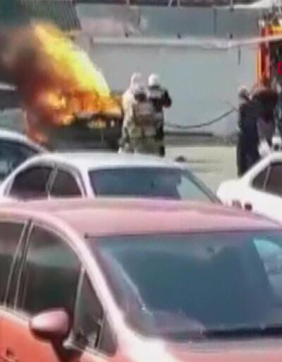 Rusya'da LPG'li araç patladı