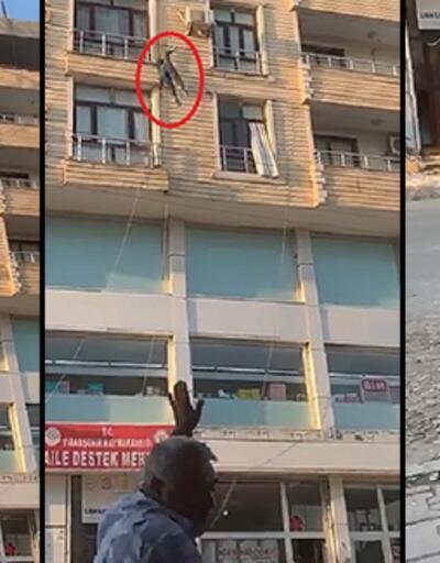 Vatandaşların çabaları işe yaramadı! Genç kız 6. kattan atladı