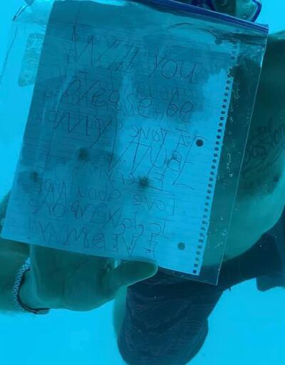 Korkunç son: Su altında evlilik teklif ederken boğuldu