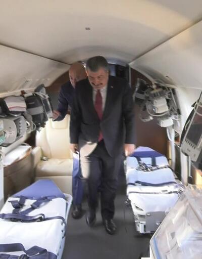Bakan Koca hava ambulanslarını inceledi