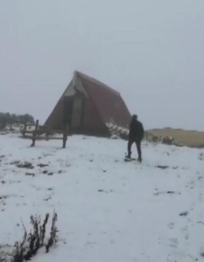 Kışın habercisi ilk kar düştü