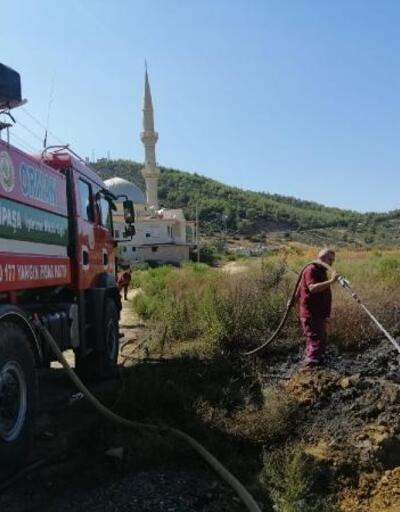 Gazipaşa'da anız yangını