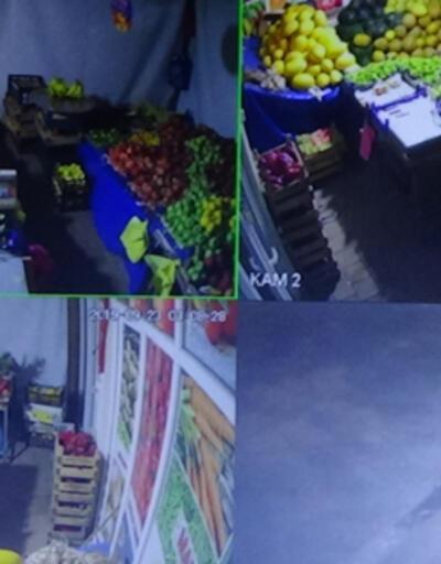 Birer gün arayla 3 kez aynı manavı soyan hırsız kameralara yakalandı