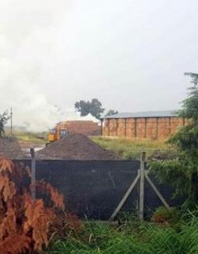 TİGEM'de yıldırım düşmesi nedeniyle yangın çıktı