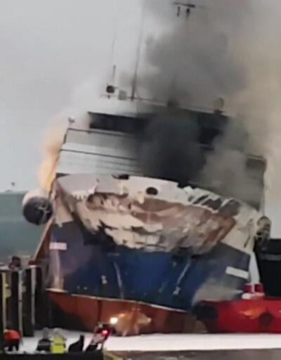 Rus gemisi böyle yandı