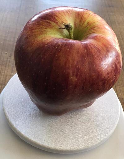 950 gramlık elma görenleri şaşırtıyor