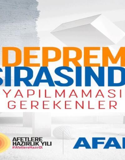 AFAD'dan deprem uyarıları