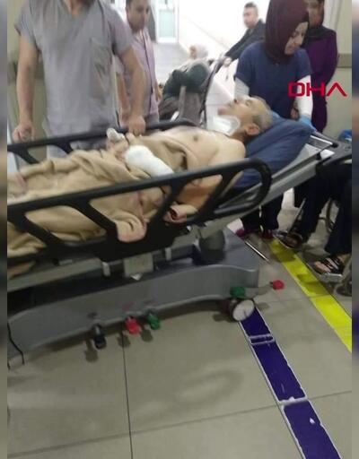 Gasp edilmek istenen taksici boğazından bıçaklandı