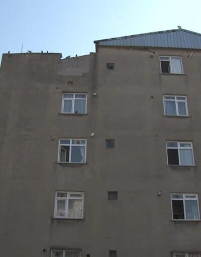 Boşaltılan bina drone ile havadan görüntülendi
