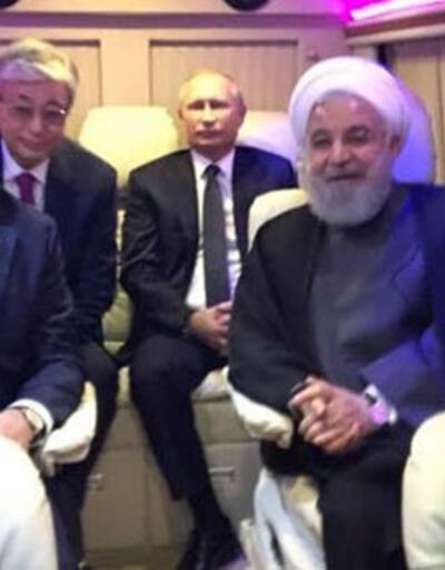 Liderlerden otobüste selfie