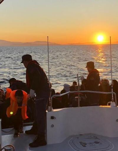 Çeşme'de 42 kaçak göçmen yakalandı