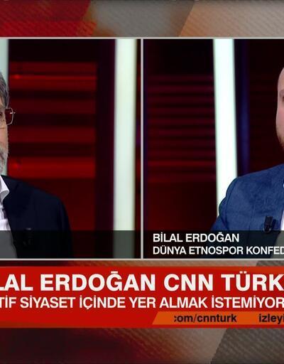 Dünya Etnospor Konfederasyonu Genel Başkanı Bilal Erdoğan, Tarafsız Bölge'de soruları yanıtladı