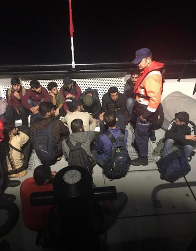 Datça açıklarında 28 kaçak göçmen yakalandı
