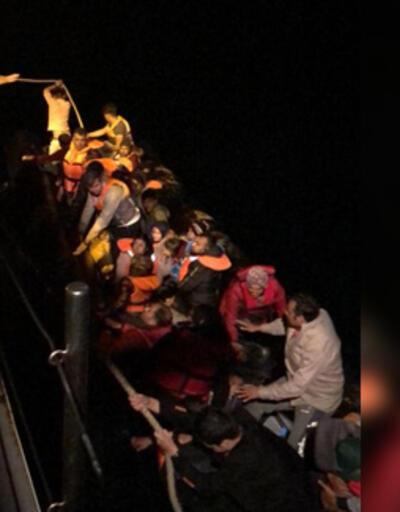 Edirne'de lastik botta 37 kaçak göçmen yakalandı
