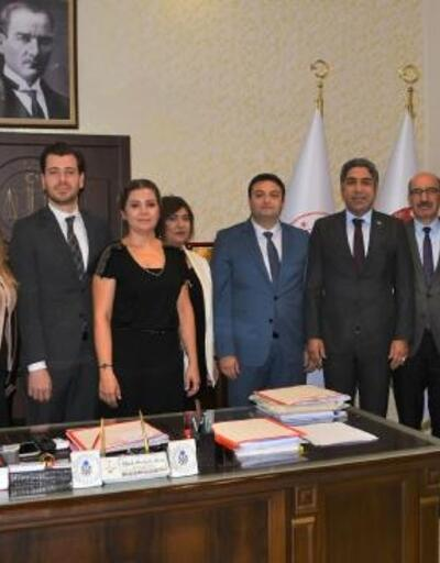 Adana Barosu'ndan Ceyhan adli protokolüne ziyaret