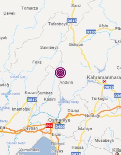 Son dakika: Kahramanmaraş'ta 3.4 büyüklüğünde deprem