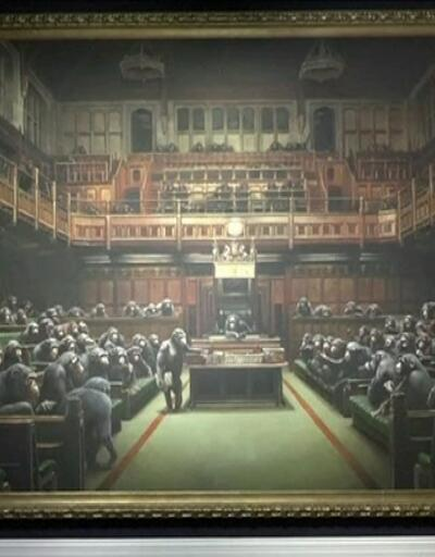 Banksy'nin, tablosu rekor fiyata satıldı!