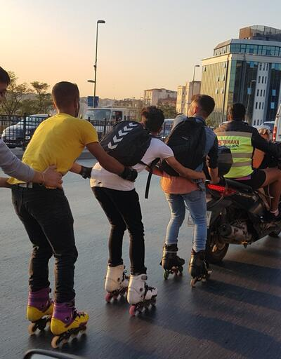 Beyoğlu'nda trafikte tehlikeli yolculuk