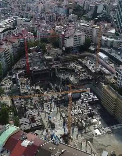 Yeni AKM binası yükseliyor