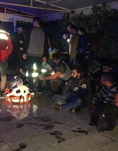 Arnavutköy'de göçmenleri taşıyan TIR kaza yaptı