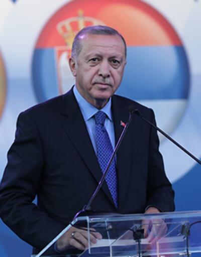 Cumhurbaşkanı Erdoğan Sırbistan'da konuştu
