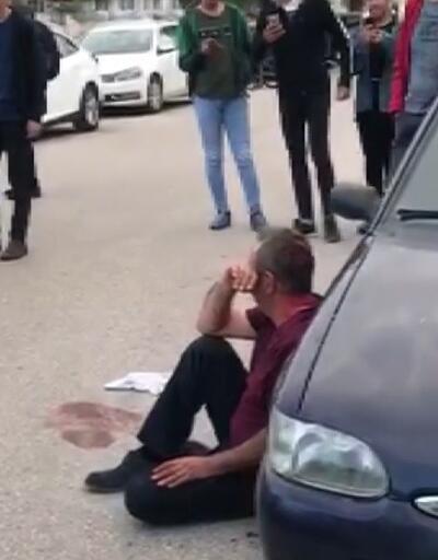 Sokak ortasında dehşete düşüren satırlı saldırı