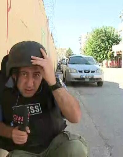 YPG saldırdı, sokaktakiler duvar dibine sığındı