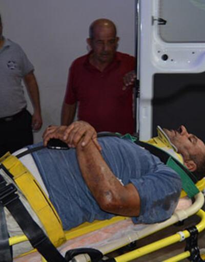 Freni boşalan TIR'ın şoförü kendisini dışarı atarak kurtuldu