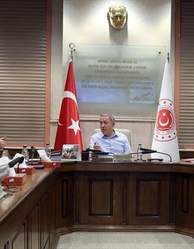 Son dakika... Hulusi Akar ve MİT Başkanı Hakan Fidan ve komutanlar arasında önemli toplantı