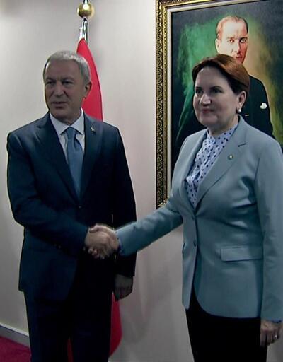 Bakan Akar, Meral Akşener'i ziyaret ediyor