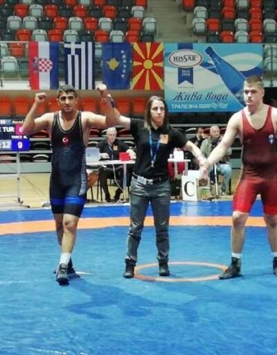 Osmaniyeli güreşçi, Balkan Şampiyonu oldu
