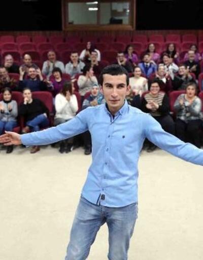 Görme engelli Hamza Demir'in on parmağında on marifet