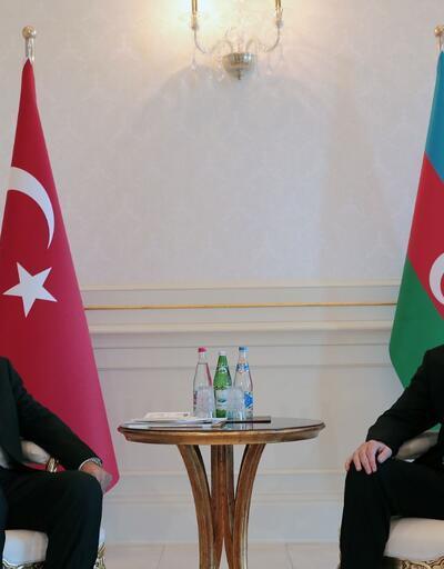 Erdoğan, Azerbaycan Cumhurbaşkanı İlham Aliyev ile görüştü