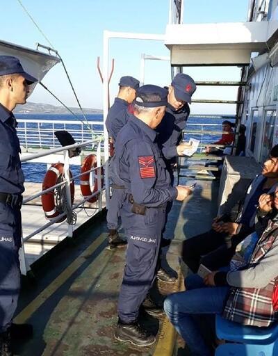 Sahil Güvenlik ekipleri, feribotlarda kimlik kontrolü yaptı