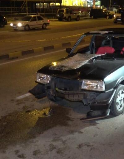Yaya geçidinde kaza