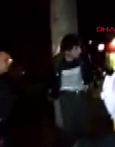 Direğe bağlanan tacizciyi linçten polis kurtardı