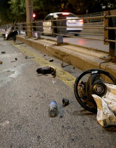 Ankara'da feci trafik kazası: 2 ağır yaralı