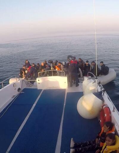 İki lastik botta 86 kaçak göçmen yakalandı