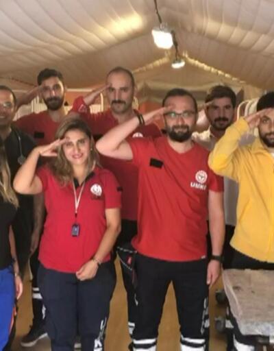 Sınırdaki sağlık ekiplerinden videolu mesaj