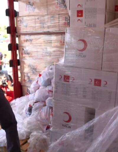 Kızılay'dan 1500 Suriyeli aileye yardım